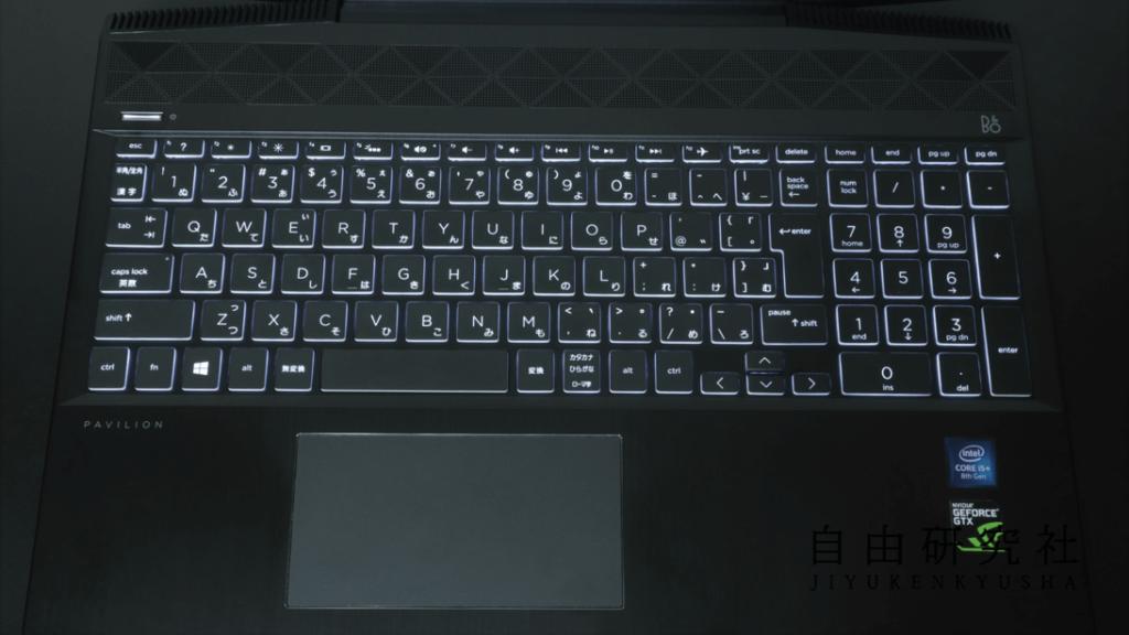 PAVILION ゲーミングPC キーボード部分2